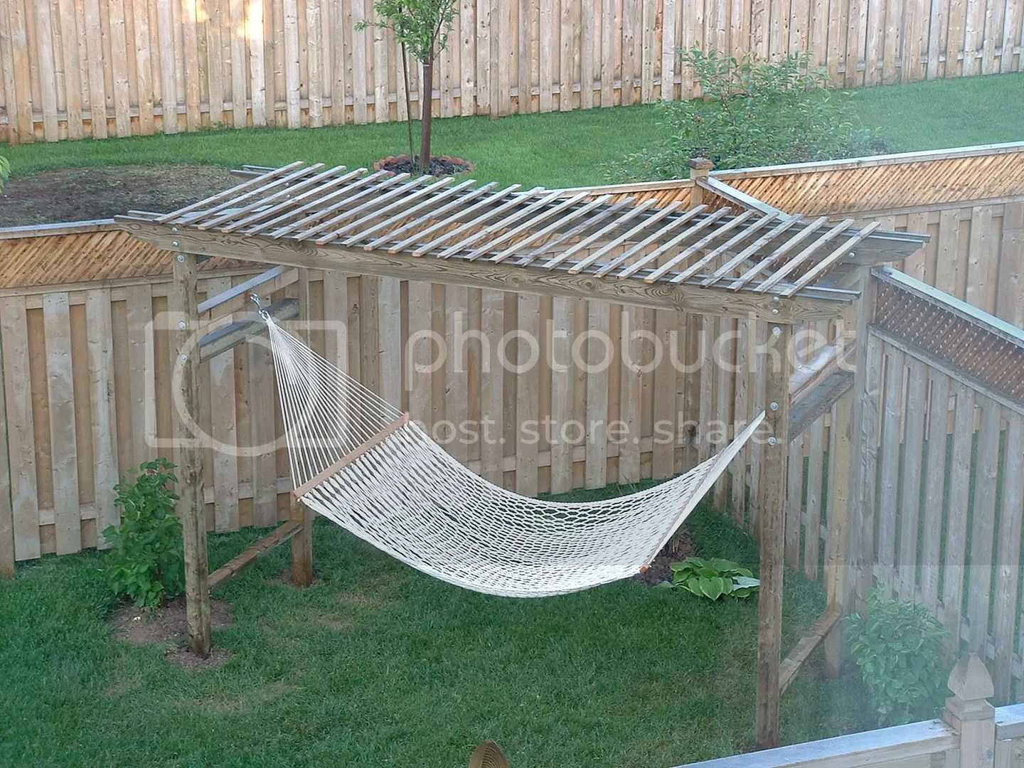 pergola plans with hammock