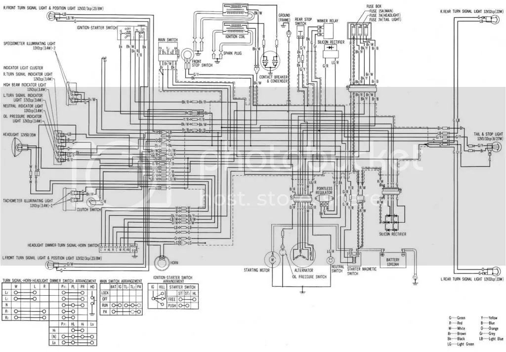 750 honda motorcycle wire diagram wiring diagram