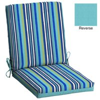 cheap chair cushions outdoor covers spotlight walmart com product image mainstays turquoise stripe 1 piece 43 x 20 in dining cushion