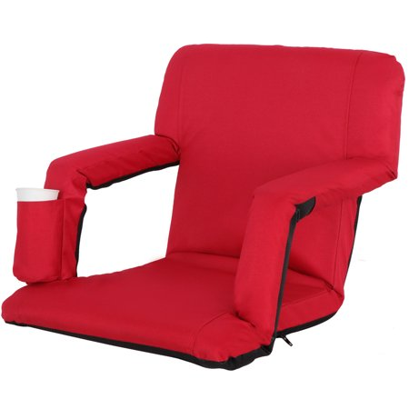 stadium chairs for bleachers with arms portable table and bleacher seats zeny red wide or benches 5 reclining positions