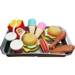 Kids Kitchen Toys Under Sink Organizer Sets Outgeek Burger Fries Ice Cream Set Food Simulation Toy Educational