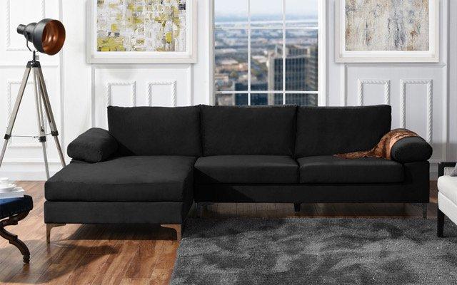 walmart sofas and sectionals habitat chester leather sofa modern velvet large sectional com