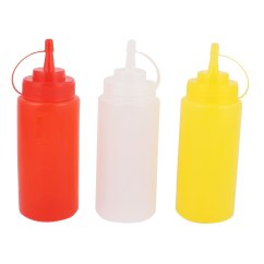 Oil Dispenser Kitchen Tables For Small Spaces Dispensers 3 Pcs 400ml Sauce Ketchup Squeeze Bottle