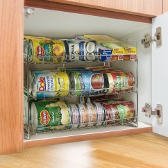 Kitchen Pantry Organizer Picture Organizers Sorbus Can Rack 3 Tier Stackable Tracker Cabinet Holds