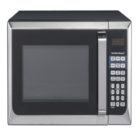 Hamilton Beach 0.9 cu.ft. Microwave Oven, Stainless Steel