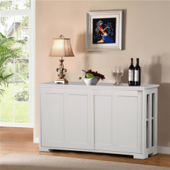 Kitchen Buffet & Bath Hutch Topeakmart Antique White Cabinet Table Sliding Door Stackable Sideboard Storage
