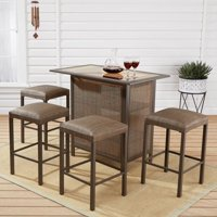 outdoor bar table and chairs nook tables furniture walmart com product image mainstays daine park 5 piece patio sling stool set