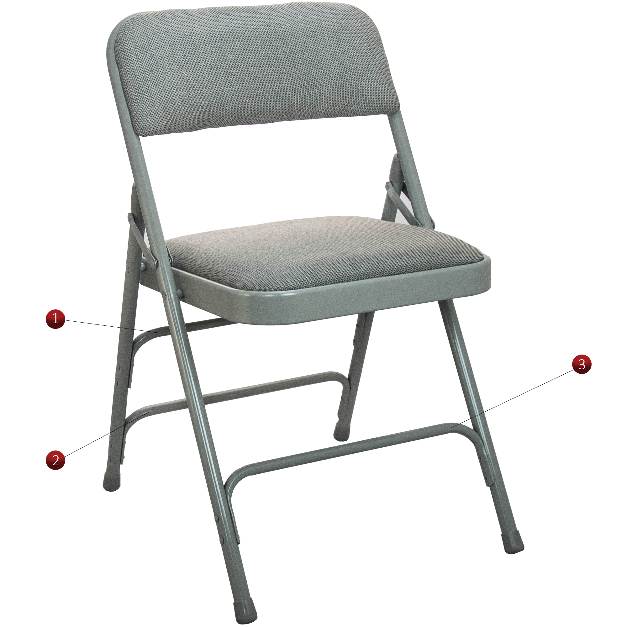 folding chair with cushion hugo steel nz padded chairs advantage series 4pk triple braced and double hinged fabric upholstered metal 1