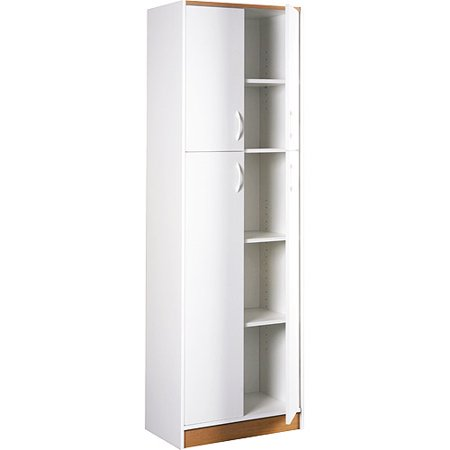 furniture kitchen pantry wayfair cabinets orion 4 door white walmart com