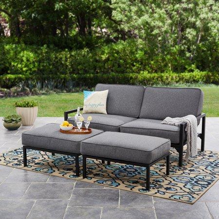 moss studio sofa reviews jeromes sectional sofas mainstays falls 3pc outdoor daybed set grey black walmart com