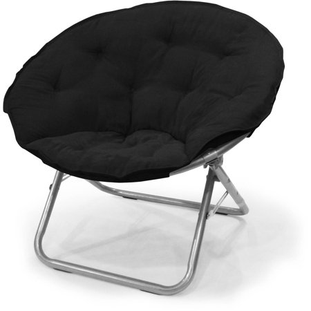 double saucer chair black papasan patio mainstays large microsuede multiple colors walmart com