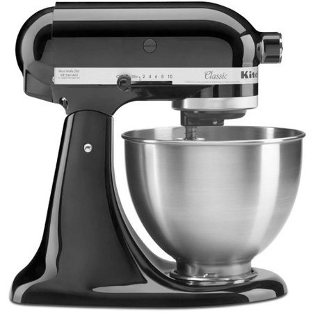 kitchenaid kitchen discount faucets classic series tilt head stand mixer 4 5 quart onyx black k45ssob walmart com