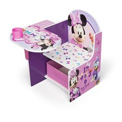 Minnie Mouse Chair Walmart High Table And Chairs Outdoor Disney Desk With Storage Bin By Delta Children Com