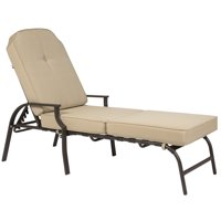 cheap chaise lounge chairs nail in chair glides outdoor lounges walmart com product image best choice products w cushion pool patio furniture beige