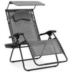 Black Patio Chairs Best Lift Reviews Seating Walmart Com Product Image Choice Products Oversized Zero Gravity Reclining Lounge W Folding Canopy Shade And