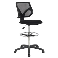 Drafting Chairs With Arms How Much Does A Chairlift Weigh Cool Living Mesh Armless Fixed Upright Adjustable Height Chair Black