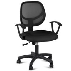 Office Desk Chairs Race Car Chair Walmart Com Product Image Yaheetech Adjustable Swivel Computer Fabric Mesh With Arms Seating Back Rest