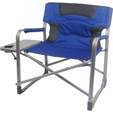 heavy duty folding chair with side table cream occasional chairs ozark trail xxl padded director walmart com