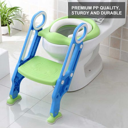 childrens potty chairs chair covers hire uk baby toilet ladder ymiko portable toddler hard kids adjustable safety training seat walmart com
