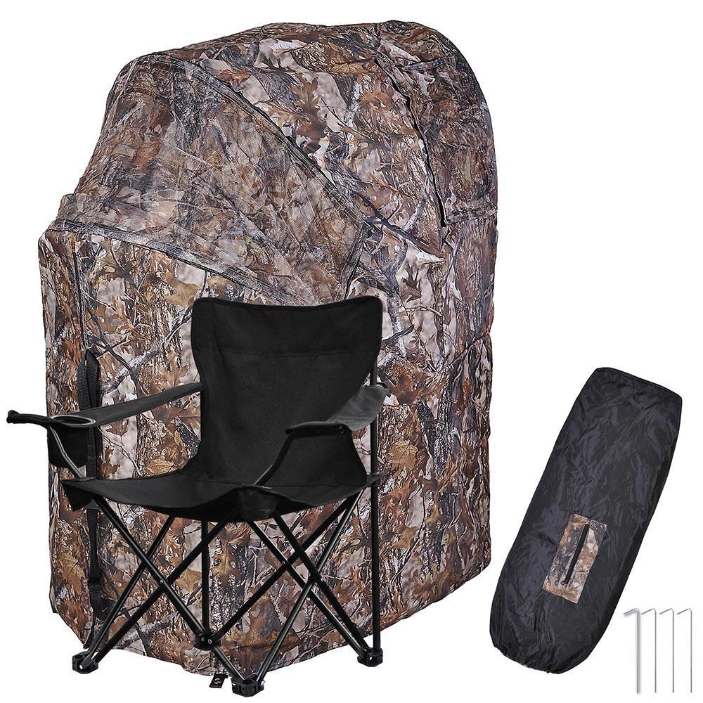 swivel hunting chair reviews gray rocking chairs fold ground deer blind woods camouflage turkey tent 1 man