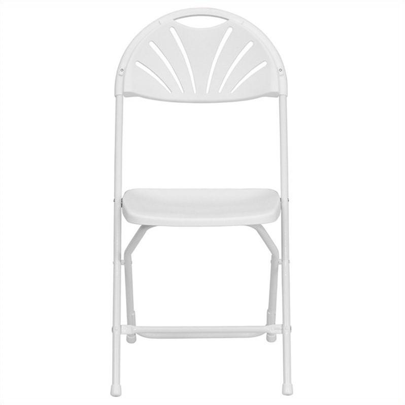 white folding chairs papasan chair frame flash furniture hercules series 800 lb capacity plastic fan back