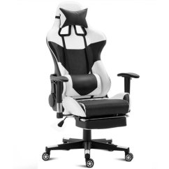 Racing Office Chairs Baby Chair Target Costway Ergonomic Gaming High Back W Lumbar Support Footrest Walmart Com