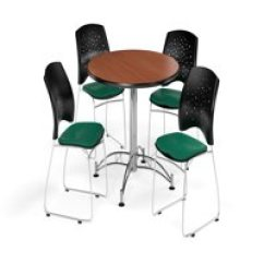 Round Table And Chairs Swing Chair Garden B&m Dining Sets Walmart Com Product Image Ofm Multi Use Break Room Package 42 With Stars Stack