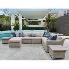 White Wicker Chairs And Table Padded Club Chair Furniture Tk Classics Coast 9 Piece Patio Set With End Tables