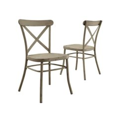 Distressed Dining Chairs Desk Chair Humanscale Better Homes And Gardens Collin White Set Of 2 Walmart Com