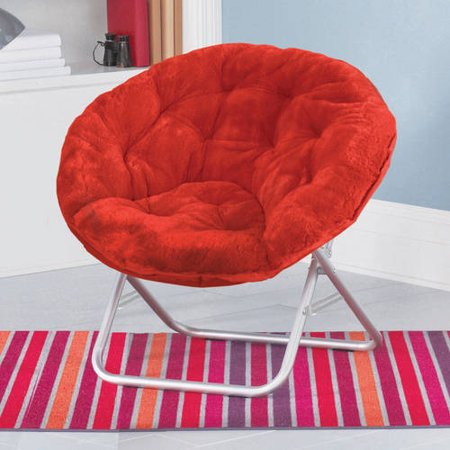 teal faux fur saucer chair swivel keeps turning mainstays available in multiple colors walmart com