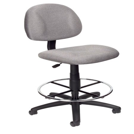 rolling stool chair dining styles names boss office home transitional grey contoured comfort adjustable drafting walmart com