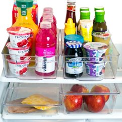 Kitchen Pantry Organizer Used Cabinets Dallas Tx Organizers Misc Home Refrigerator Bins 2 Large Stackable Fridge With Handles And