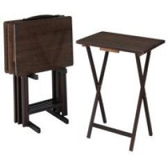 Fold Away Table And Chairs Folding Chair Genius Tables Walmart Com Product Image Mainstays 5 Piece Tray Set In Walnut