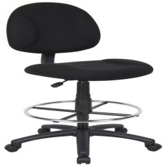 Office Chair Vs Stool Patio Seat Cushions Boss Home Transitional Black Contoured Comfort Adjustable Rolling Drafting