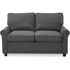 Mainstays Sofa Sleeper With Memory Foam Lounge Suite Bed 57 Loveseat Mattress Grey Walmart Com