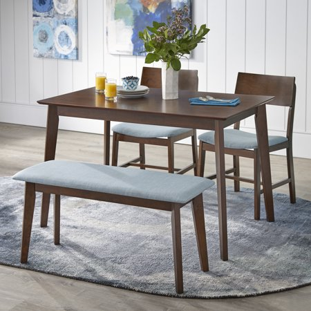 kitchen table set with bench virtual tms tiara 4 piece dining multiple colors walmart com
