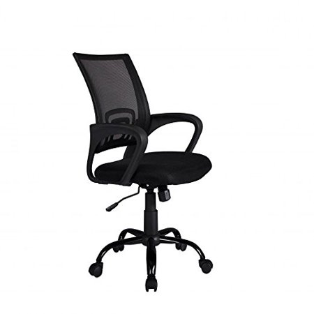 ergonomic chair description bamboo rattan black mesh computer office desk midback task w metal base on walmart com