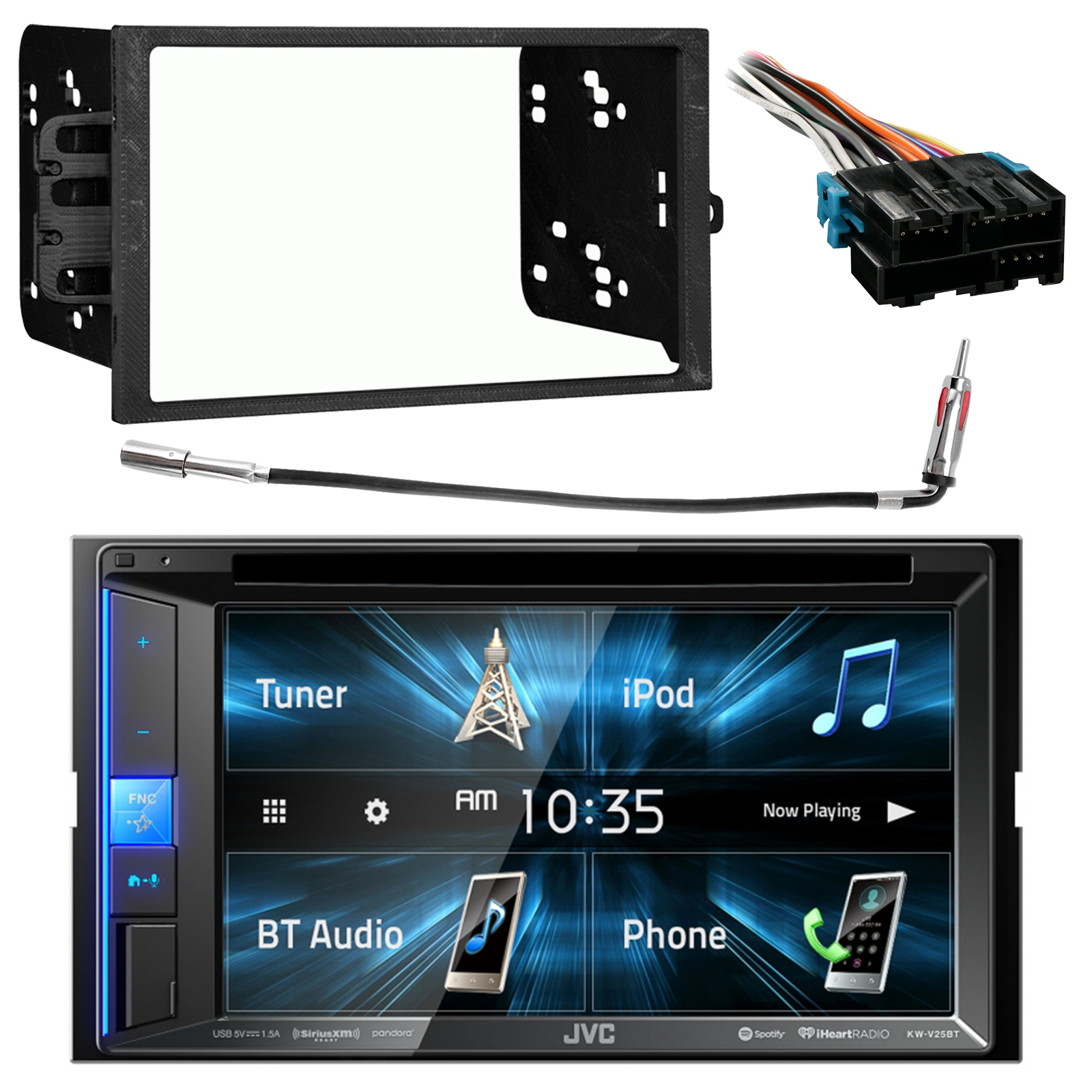 gm radio kit6 2 touchscreen double din bluetooth siriusxm car audio stereo receiver double din installation pyle wiring harness  [ 1600 x 1600 Pixel ]