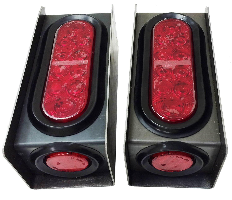 hight resolution of led trailer light kitsset of 2 steel trailer light boxes w 6