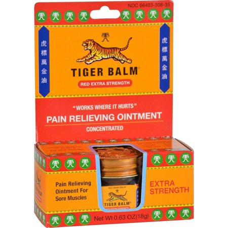 Tiger Balm Extra Strength Pain Relieving Ointment 0.63 Oz ...