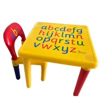 tables and chairs for toddlers double adirondack chair kids table sets walmart com product image ktaxon abc alphabet childrens plastic set childs gift