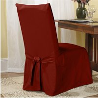 christmas chair back covers ireland dark grey dining walmart com product image sure fit cotton duck slipcover