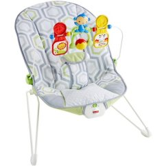 Baby Bouncy Chair Age With Stand Fisher Price S Bouncer Removable Toy Bar Geo Meadow Walmart Com