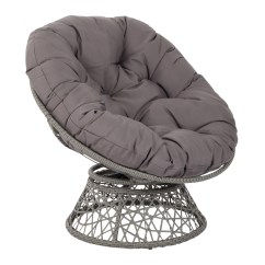 Circular Bamboo Chair Cushion Modern Armchairs Images Papasan Cushions Osp Designs By Office Star Products With Grey And Frame