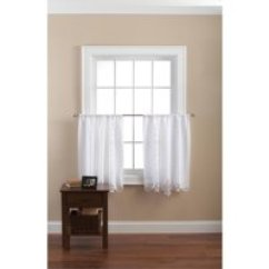 Kitchen Drapes Draining Board Curtains Walmart Com Product Image Mainstays Battenburg White Lace Set Of 2