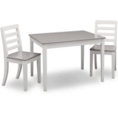 White Table Chairs Grey Chair Covers Ikea Kids Sets Walmart Com Product Image Delta Children Gateway And 2 Set Multiple Colors