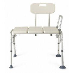 Shower Chair Vs Tub Transfer Bench Ergonomic Kneeling Medline Height Adjustable With Backrest Tool Free Assembly Walmart Com