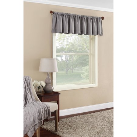 curtains with valance for living room brown yellow and turquoise mainstays textured solid curtain walmart com