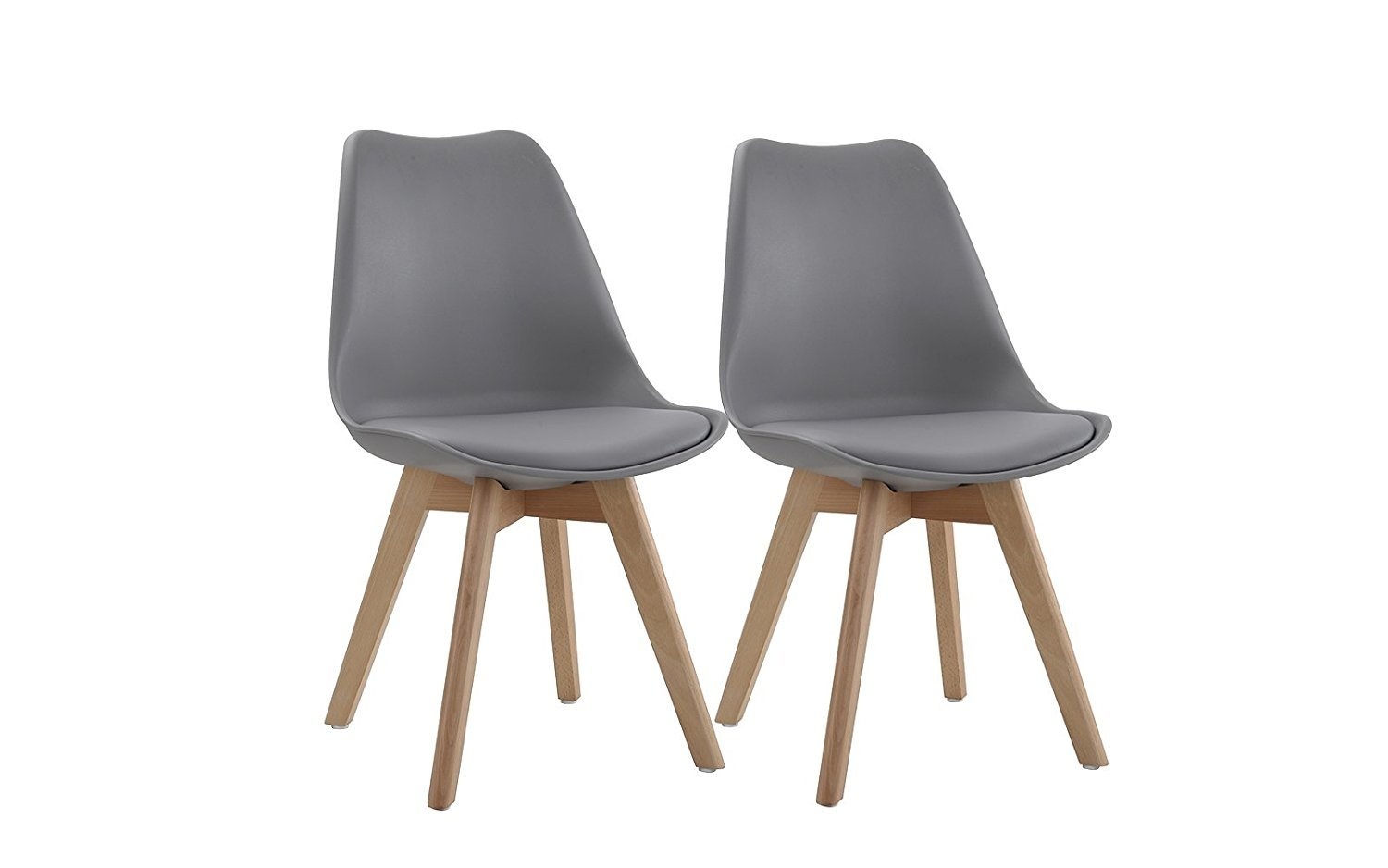 kitchen chairs folding chair used by a bishop wooden set of 2 modern dinning faux leather grey