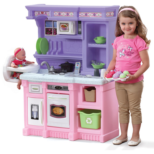 toy kitchen sets cabico cabinets kids step2 little bakers play with 30 piece food baking set
